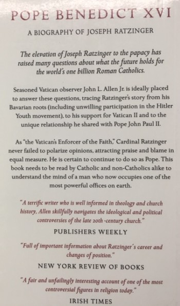 Image for Pope Benedict XVI: A Biography of Joseph Ratzinger
