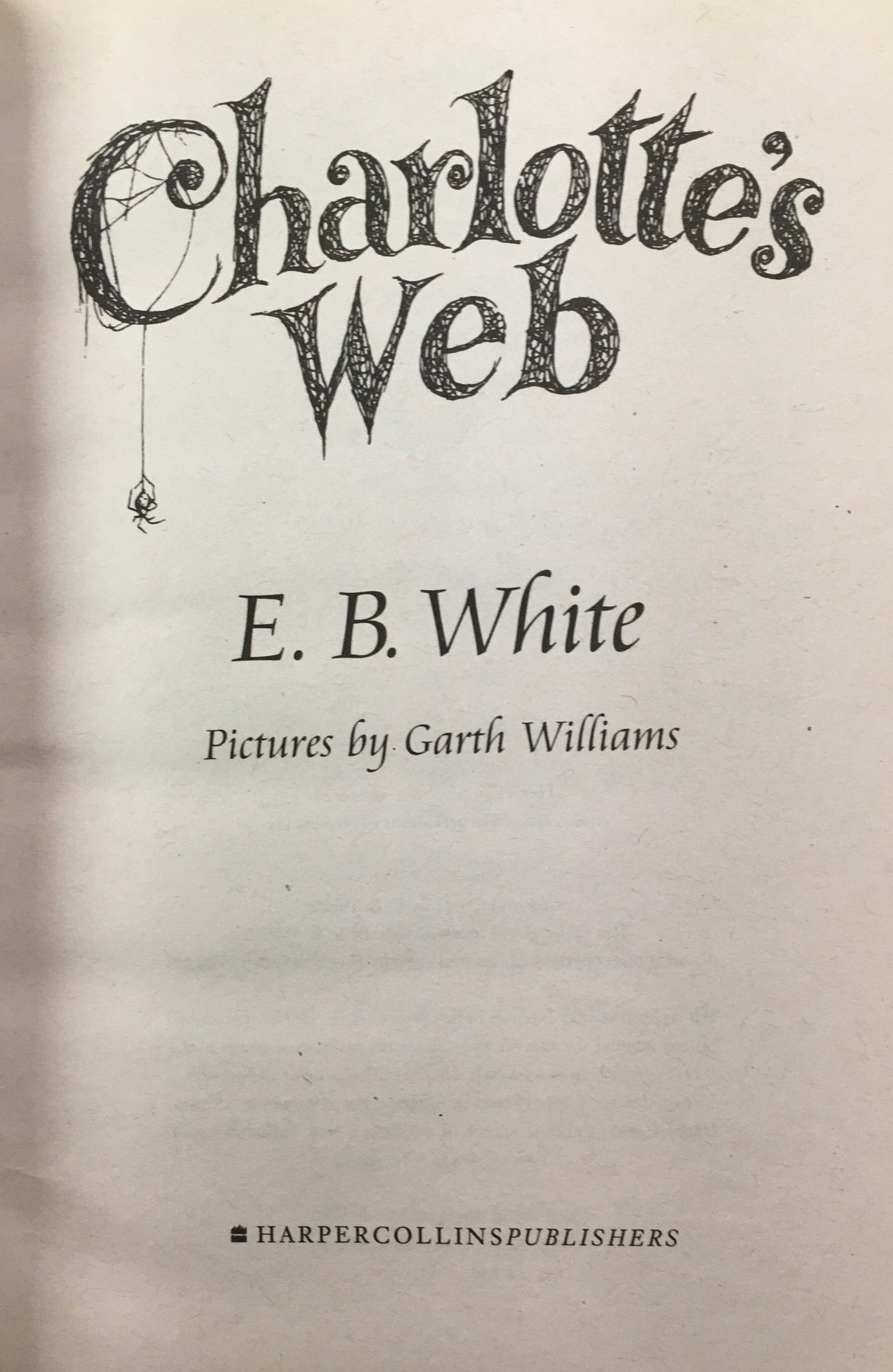 Image for Charlotte's Web (Trophy Newbery)