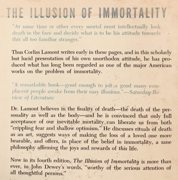 Image for The Illusion Of Immortality