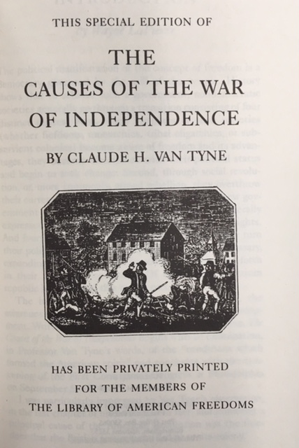 Image for The Causes of the War of Independence (The Library of American Freedoms)