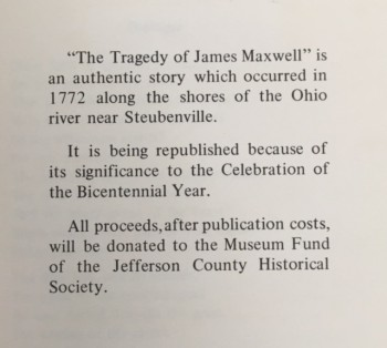 Image for The Tragedy of James Maxwell and the Ohio Indians