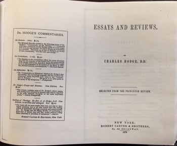 Image for Essays and Reviews: Selected from the Princeton Review [FACSIMILE]