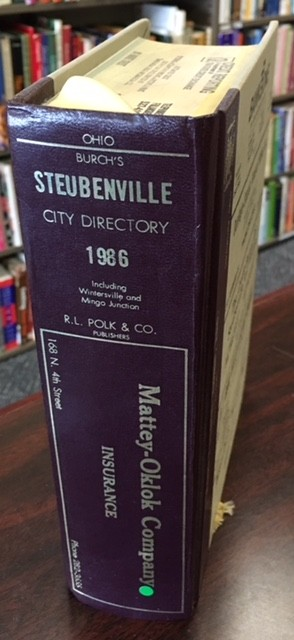 Image for 1986 Steubenville Ohio City Directory [Including Wintersville And Mingo Junction]