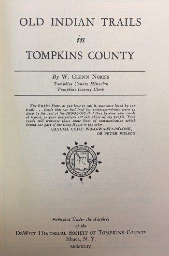Image for Old Indian Trails in Tompkins County (New York)