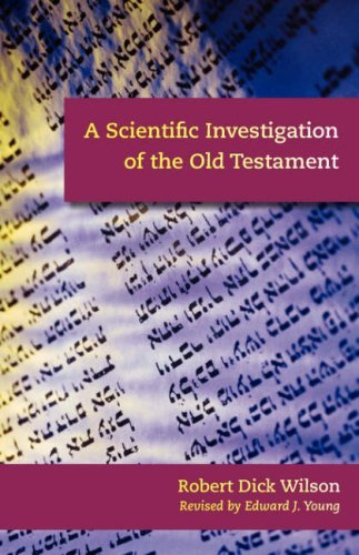 Image for A Scientific Investigation of the Old Testament
