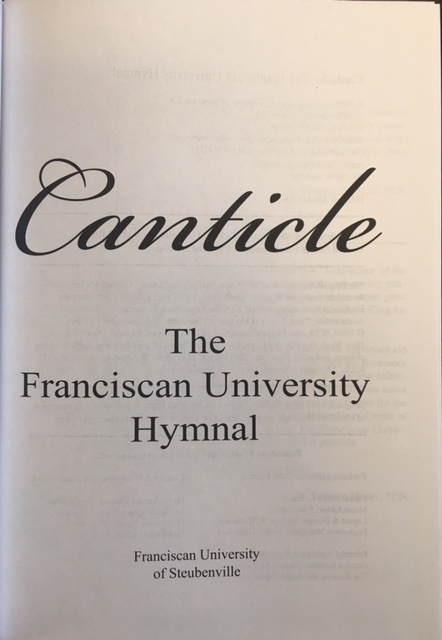 Image for Canticle, the Franciscan University Hymnal
