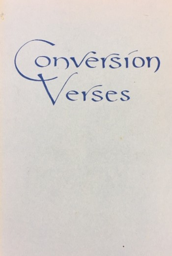 Image for Conversion Verses