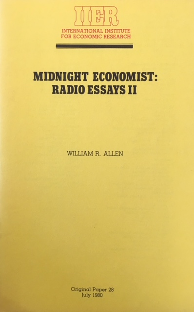 Image for Midnight Economist: Radio Essays II (Original Paper 28)