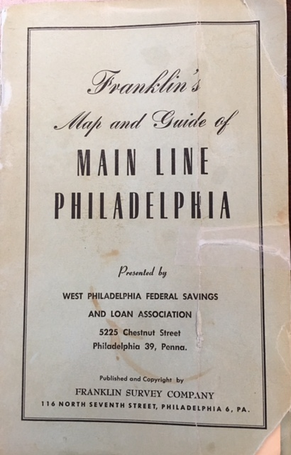 Image for Franklin's Map and Guide of Main Line Philadelphia, PA