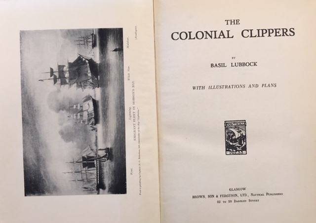 Image for The Colonial Clippers: With Illustrations and Plans