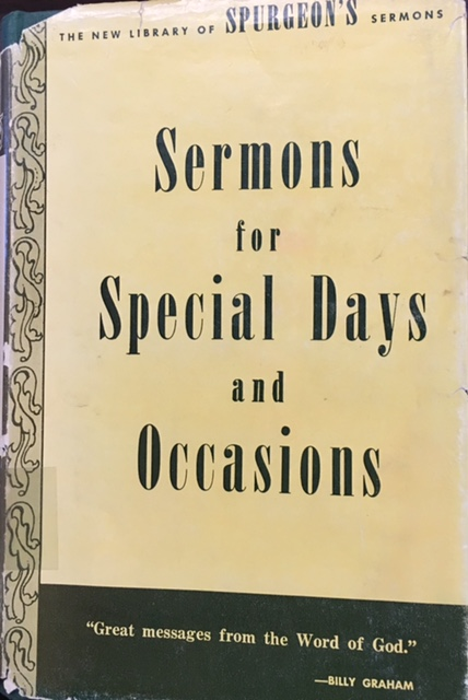 Image for C. H. Spurgeon's Sermons for Special Occasions (The New Library of Spurgeon's Sermons - Volume 1)