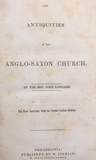 Image for The Antiquities of the Anglo-Saxon Church