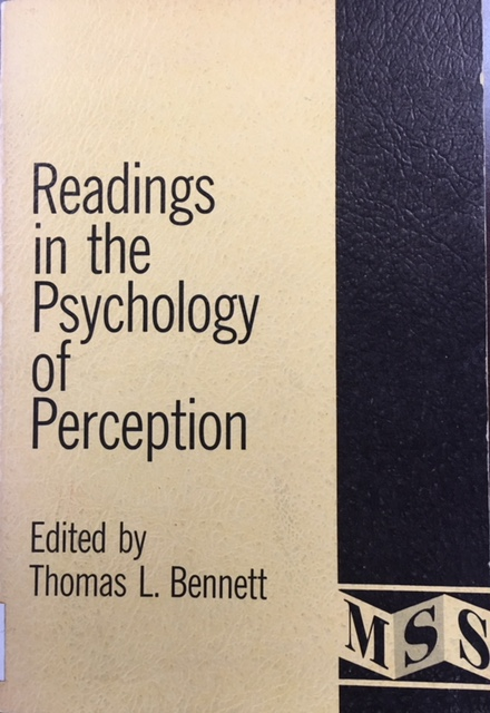 Image for Readings in the Psychology of Perception