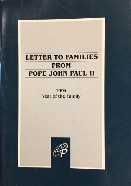 Image for Letter to Families from Pope John Paul II: 1994 Year of the Family