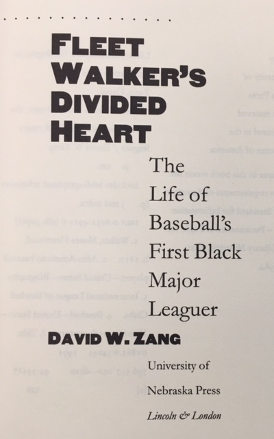 Image for Fleet Walker's Divided Heart: The Life of Baseball's First Black Major Leaguer