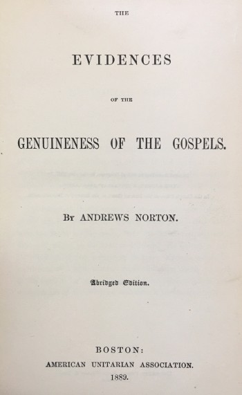 Image for Evidences of the Genuineness of the Gospels (Abridged)