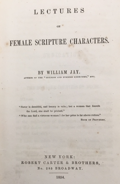 Image for Lectures On Female Scripture Characters