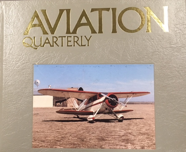 Image for Aviation Quarterly - Summer 1988 (Volume Eight - Number Three)