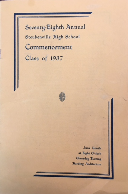 Image for Seventy-Eighth Annual Steubenville High School Commencement - Class of 1937 (Program)