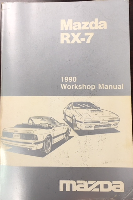 Image for 1990 Mazda RX-7 Workshop Manual (1212-10-89S / Part No. 9999-95-018S-90)