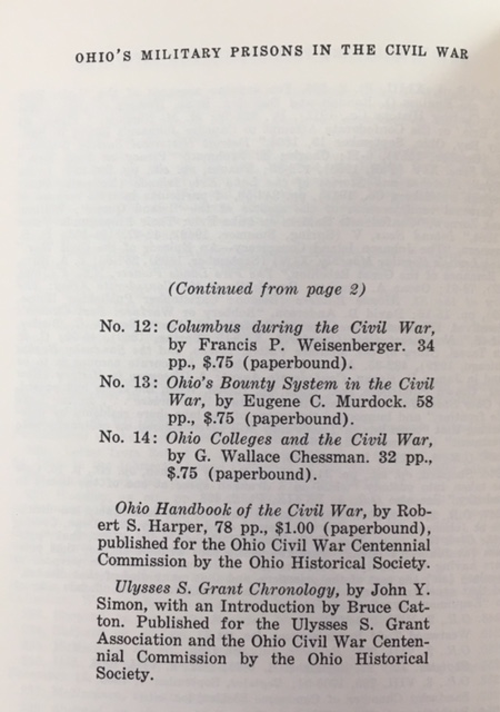 Image for Publications of the Ohio Civil War Centennial Commission (15 Numbered Volumes + 2 Supplemental Volumes)