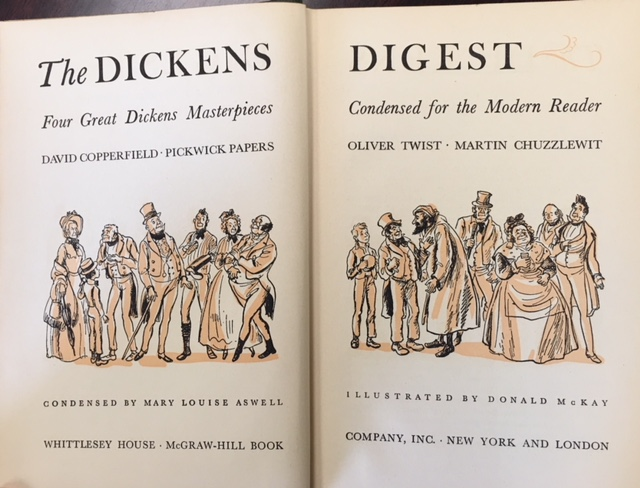 Image for Dickens Digest: Four Great Dickens Masterpieces Condensed for the Modern Reader (David Copperfield / Pickwick Papers / Oliver Twist / Martin Chuzzlewit)