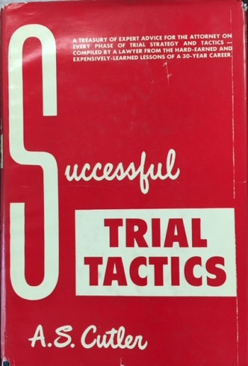 Image for Successful Trial Tactics
