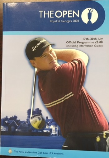 Image for 2003 Open Golf Championship, Royal St. George's Golf Club, 17th - 20th July: Official programme (Includes Supplement: Information Guide and Tee Times for Sunday 20th July)