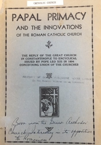 Image for Papal Primacy and the Innovations of the Roman Catholic Church: As discussed in the reploy of the Great Church in Constantinople to Encyclical issued by Pope Leo XII in 1894 concerning union of the churches including important ecclesiastical canons and explanations
