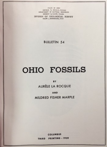 Image for Ohio Fossils (Bulletin 54 - 3rd Printing)