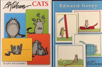 Image for 36 Feline-Themed Gift Cards, Designs by Edward Gorey