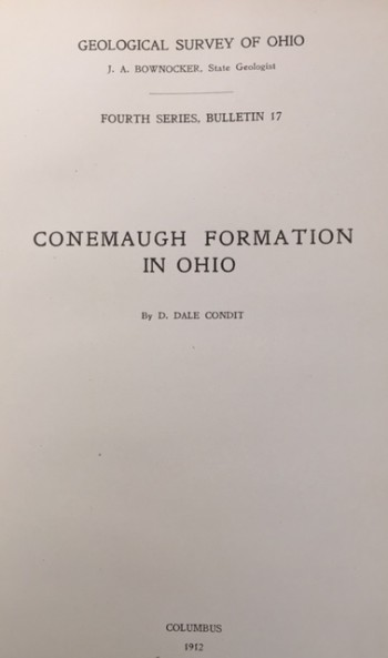 Image for Conemaugh Formation in Ohio (Geological Survey of Ohio - Fourth Series, Bulletin 17)
