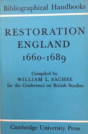 Image for Restoration England 1660-1689 (Conference on British Studies Bibliographical Handbooks)