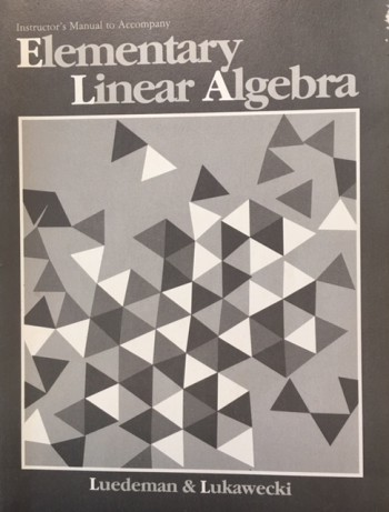 Image for Instructor's Manual To Accompany Elementary Linear Algebra