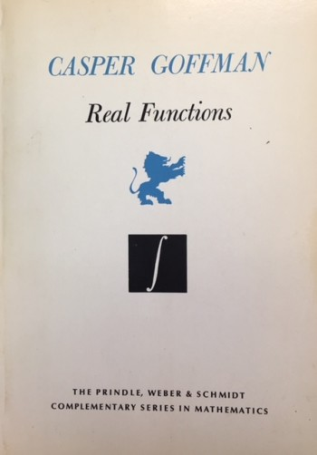 Image for Real Functions (Prindle, Weber & Schmidt Complementary Series in Mathmatics - Volume  8)
