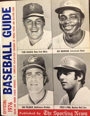 Image for Official Baseball Guide for 1976 (On Cover: Tom Seaver - Joe Morgan - Jim Palmer - Fred Lynn)