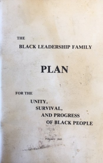 Image for The Black Leadership Family Plan for the Unity, Survival, and Progress of Black People (February 1982)