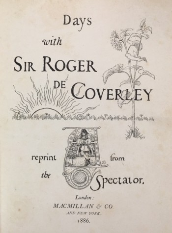 Image for Days with Sir Roger De Coverley (Reprint from the Spectator)