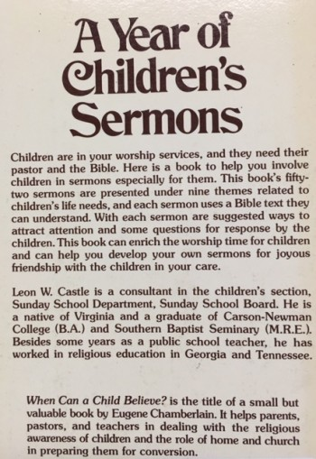 Image for Year of Children's Sermons