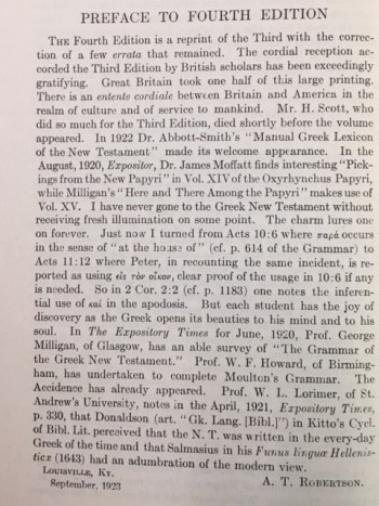 Image for Grammar of the Greek New Testament in the Light of Historical Research
