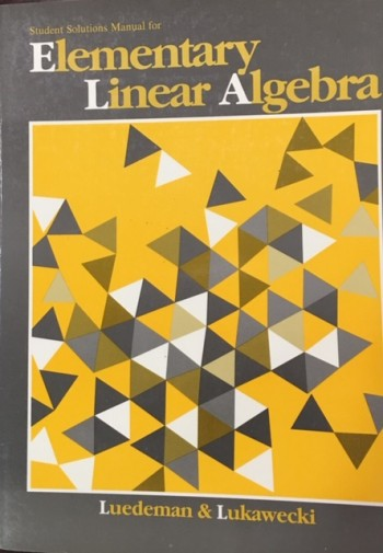 Image for Student Solutions Manual to Accompany Elementary Linear Algebra