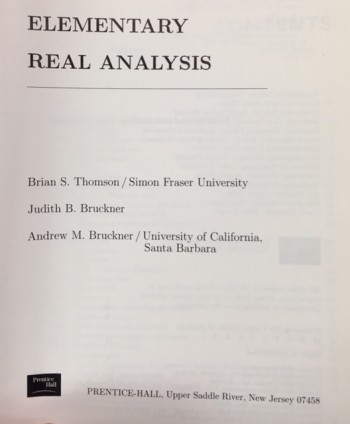 Image for Elementary Real Analysis
