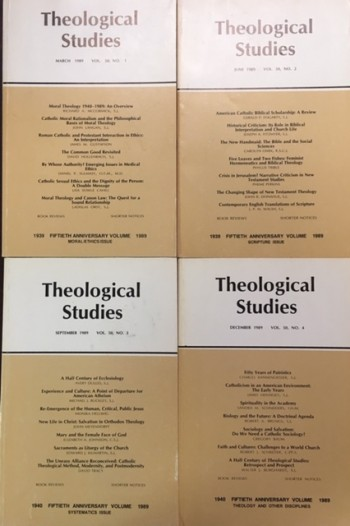 Image for Theological Studies, Volume 50, No's 1- 4 Complete (1989) 50th ANNIVERSARY VOLUME