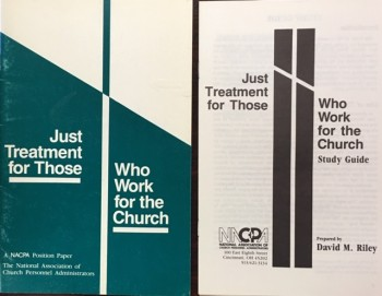 Image for Just Treatment For Those Who Work For the Church: Booklet & Study Guide