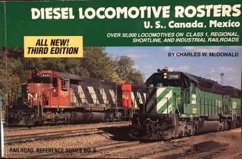 Image for Diesel Locomotive Rosters, Third Edition (Railroad reference series no. 9)