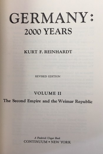 Image for Germany: 2000 Years (3 Volume Set)