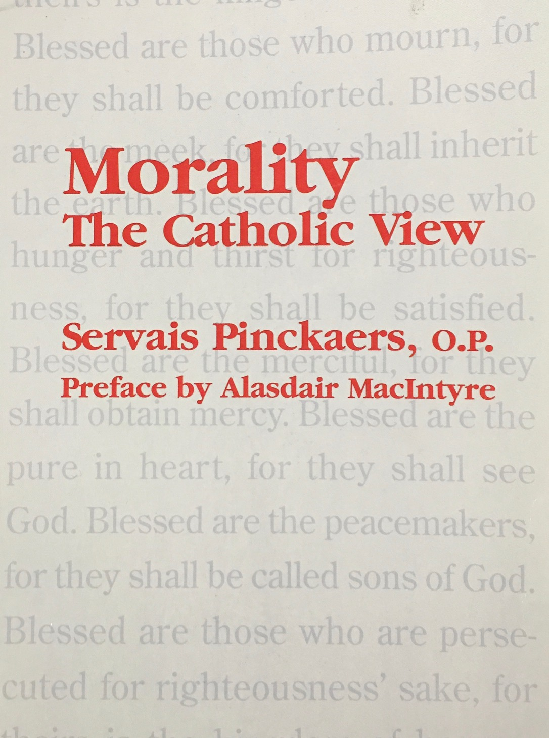 Image for Morality: The Catholic View