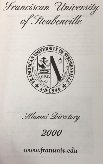 Image for Franciscan University of Steubenville Alumni Directory (Millennium Edition 2000)