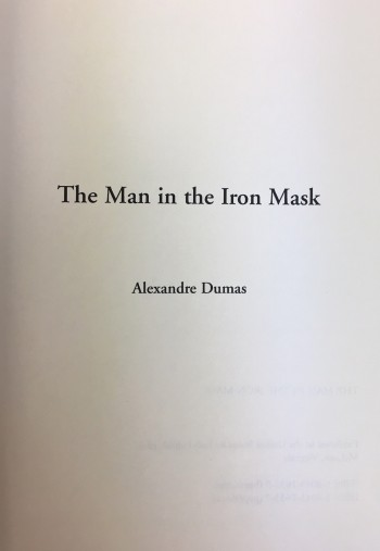 Image for The Man in the Iron Mask