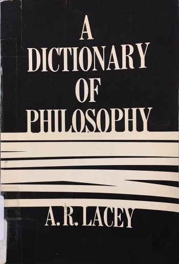 Image for A Dictionary of Philosophy